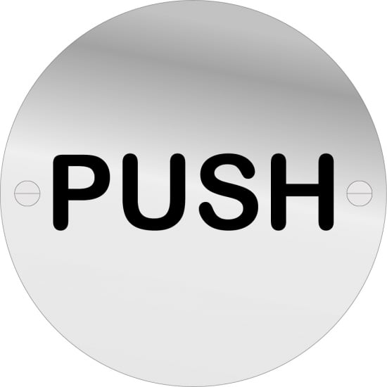 Push Door Signs