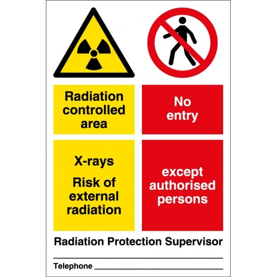 Radiation Area No Entry Signs