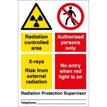 Radiation Controlled Area Authorised Persons Signs