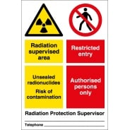 Radiation Supervised Area Signs
