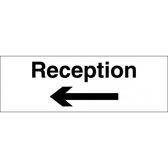 Reception Arrow Left Signs