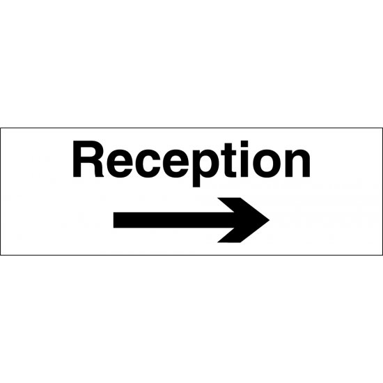 Reception Arrow Right Signs