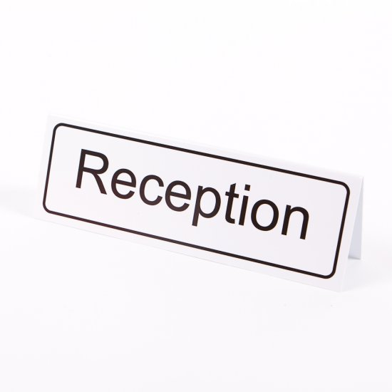 Reception Desktop Signs