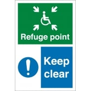 Refuge Point Keep Clear Signs