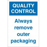 Remove Outer Packaging Signs