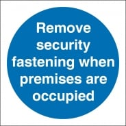 Remove Security Fastening Signs