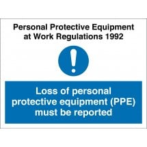 Report Loss of PPE Signs