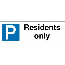 Residents Only Parking Signs