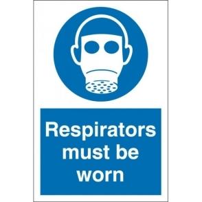 Respirators Must Be Worn Signs