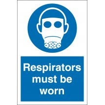 Respirators Must Be Worn Signs