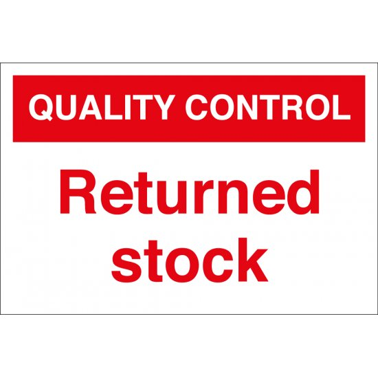 Returned Stock Signs