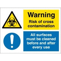 Risk Of Cross Contamination Signs