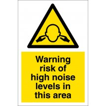 Risk Of High Noise Levels In This Area Signs