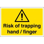 Risk Of Trapping Hand Finger Signs
