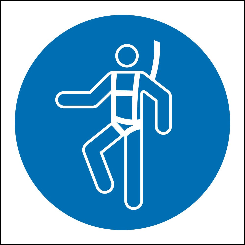 Safety harness signs from key signs uk - Formation travail en hauteur port du harnais ...