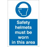 Safety Helmets Must Be Worn In This Area Signs