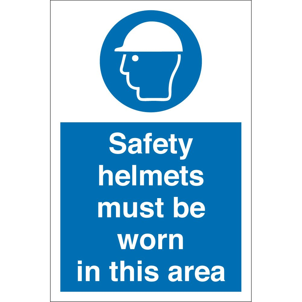 Safety Helmets Must Be Worn In This Area Signs - from Key