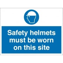 Safety Helmets Must Be Worn On This Site Signs