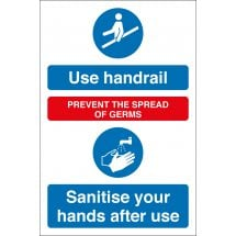Sanitise Your Hands After Using Handrail Signs