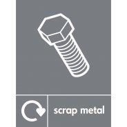 Scrap Metal Waste Recycling Signs