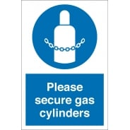 Secure Gas Cylinders Signs
