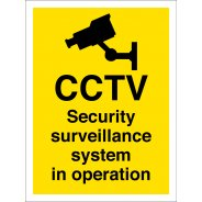 Security Surveillance System In Operation Signs
