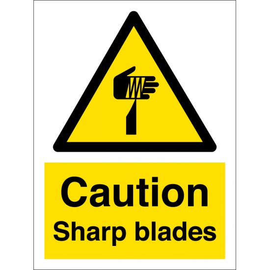 Sharp Blades Hazard Signs