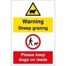Sheep Grazing Keep Dogs On Leads Signs