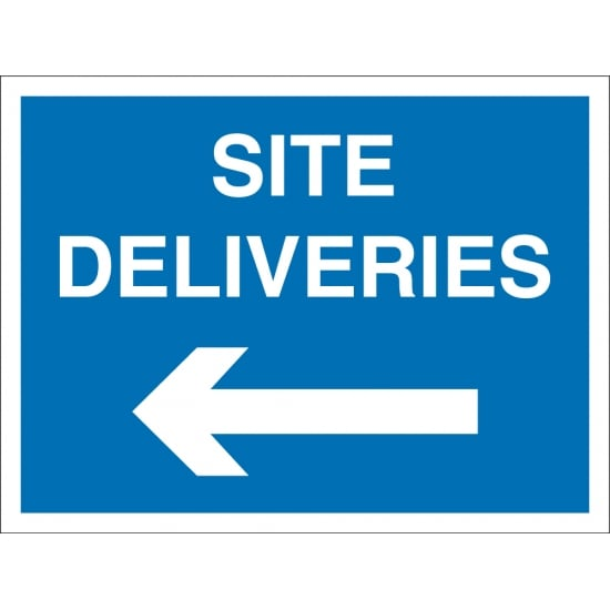 Site Deliveries Arrow Left Signs