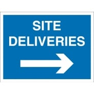 Site Deliveries Arrow Right Signs