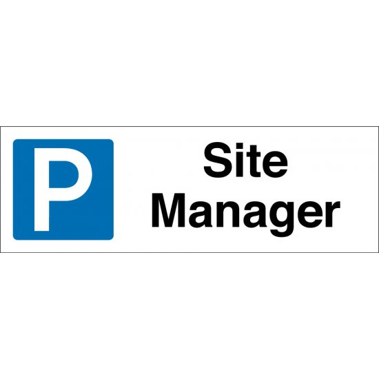 Site Manager Parking Signs