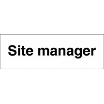 Site Manager Signs