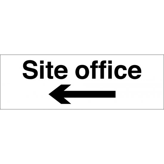 Site Office Arrow Left Signs