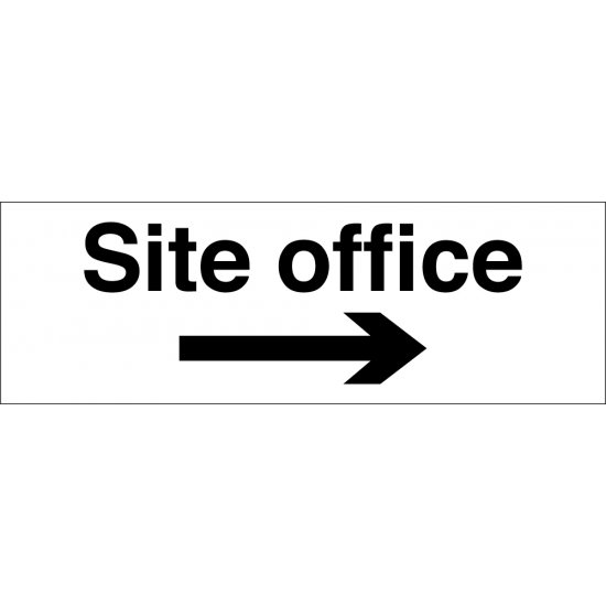 Site Office Arrow Right Signs