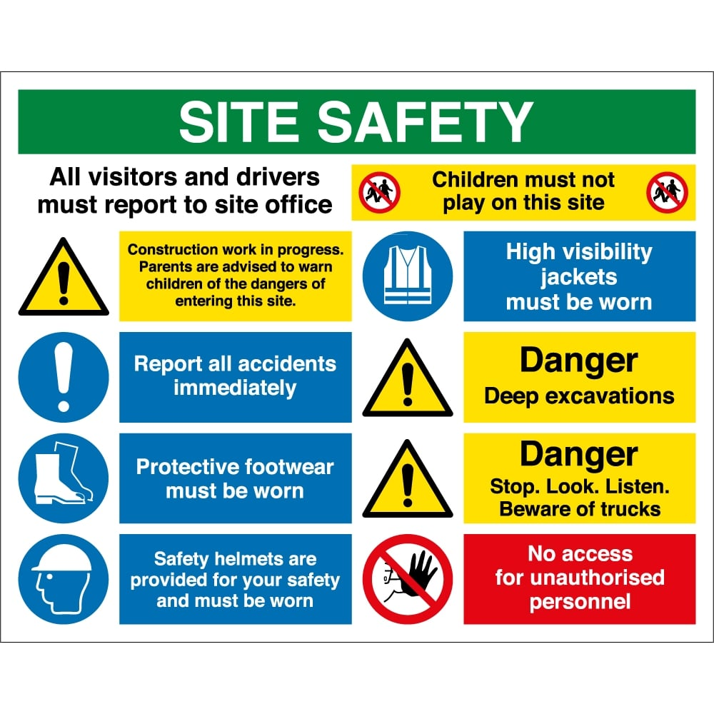 Construction Site Safety Signs Www Imgkid Com The