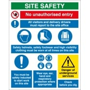 Site Safety Underground Services Signs