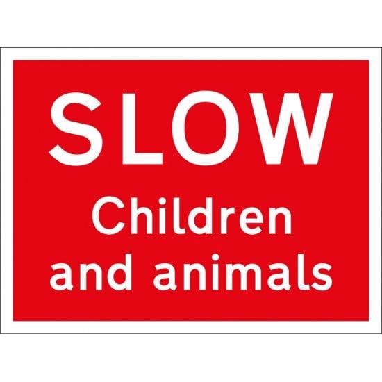 Slow Children And Animals Sign