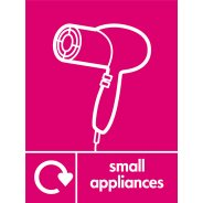 Small Appliances Waste Signs