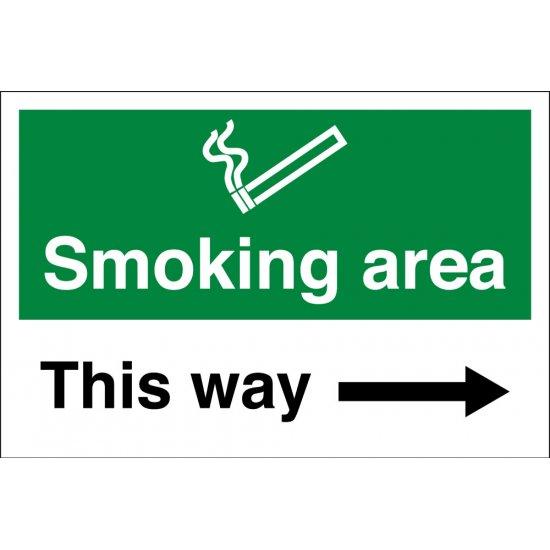 Smoking Area Arrow Right Signs