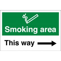 Smoking Area Arrow Right Signs