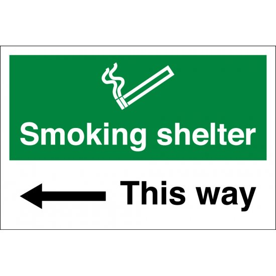 Smoking Shelter Arrow Left Signs