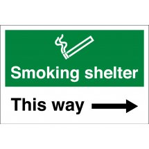 Smoking Shelter Arrow Right Signs