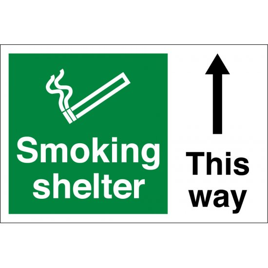 Smoking Shelter Arrow Up Signs