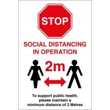 Social Distancing In Operation Signs