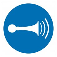 Sound Horn Safety Signs