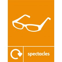 Spectacles Recycling Signs