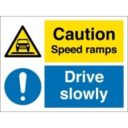 Speed Ramps Drive Slowly Signs