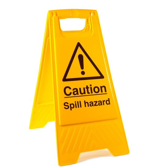 Spill Hazard Floor Stands