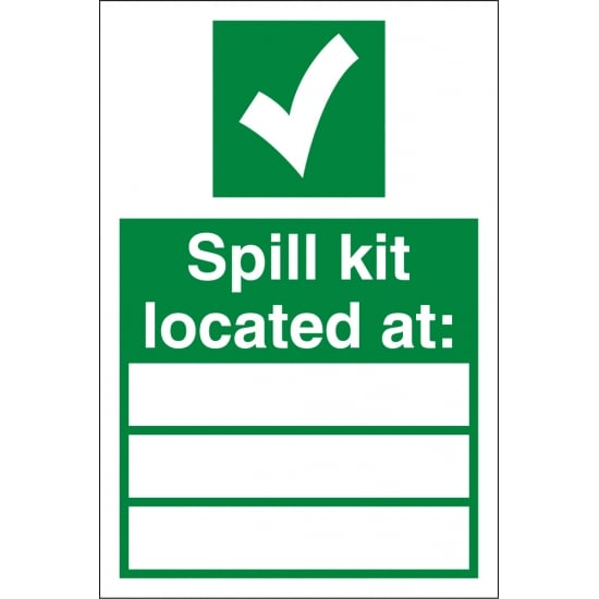 Spill Kit Located At Signs