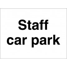 Staff Car Park Signs